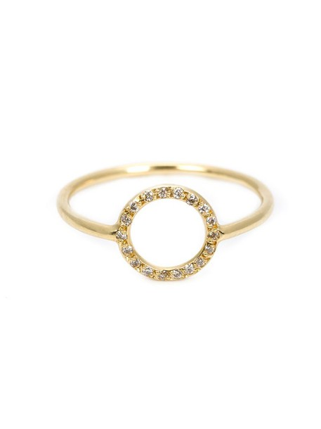 Ileana Makri diamond ring women ring gold grey metallic jewels