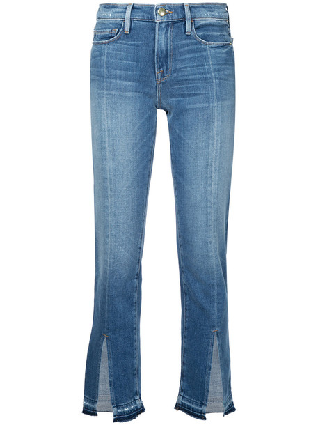 Frame Denim jeans women spandex cotton blue