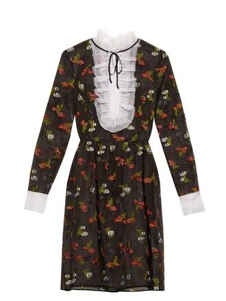 dress silk dress silk black red