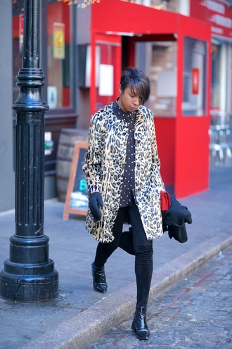 where did u get that blogger coat leopard print