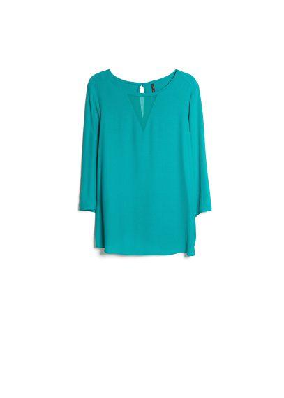 chiffon panel blouse