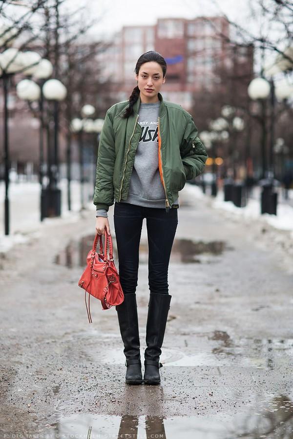 jacket bomber jacket military style outerwear green bomber jacket fashion streetstyle