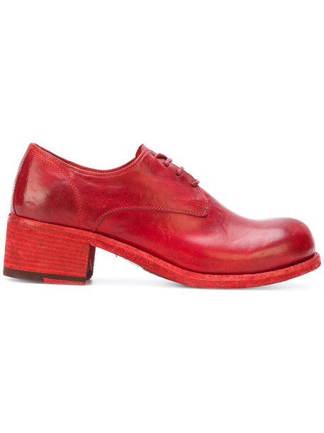 OFFICINE CREATIVE women lace leather red shoes