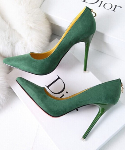 shoes green dior stiletto shoes