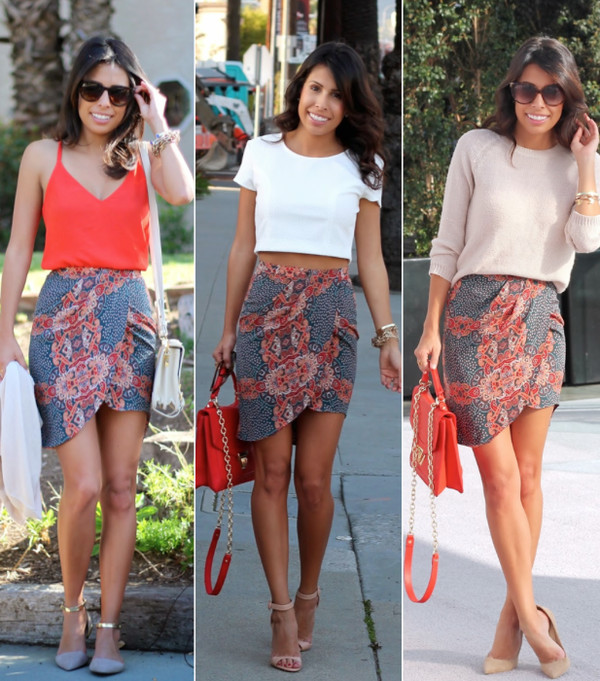 skirt floral summer outfits high-low dresses