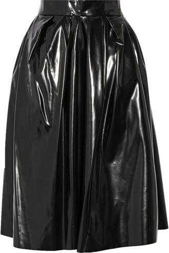skirt vinyl black