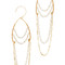 Serefina delicate chandelier earrings - gold/white