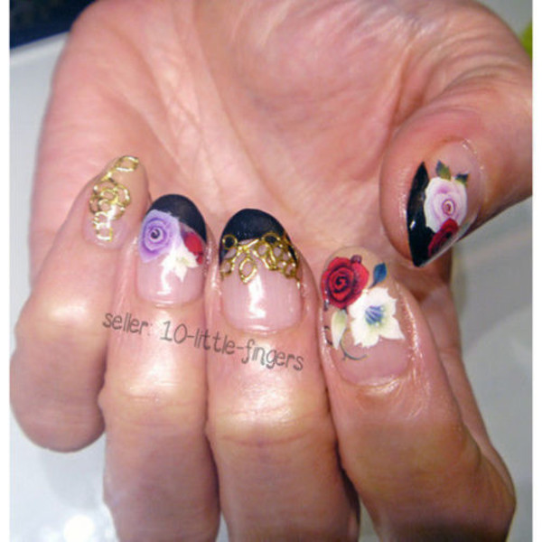 nail accessories manicure pedicure stickers decals french diy nail polish nail art nails