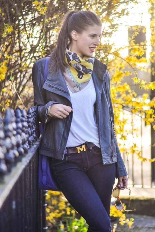 thank fifi jacket t-shirt shoes scarf bag jewels belt coat