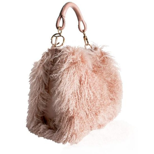 bag handbag christian dior fur