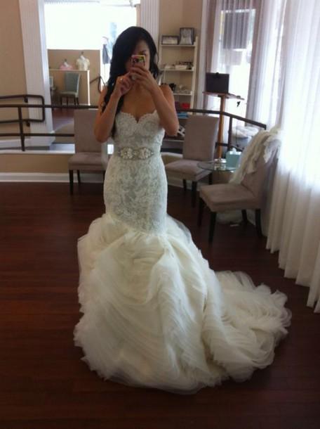 wedding, lazaro, wedding dress, wedding dress lace, dress, lace ...