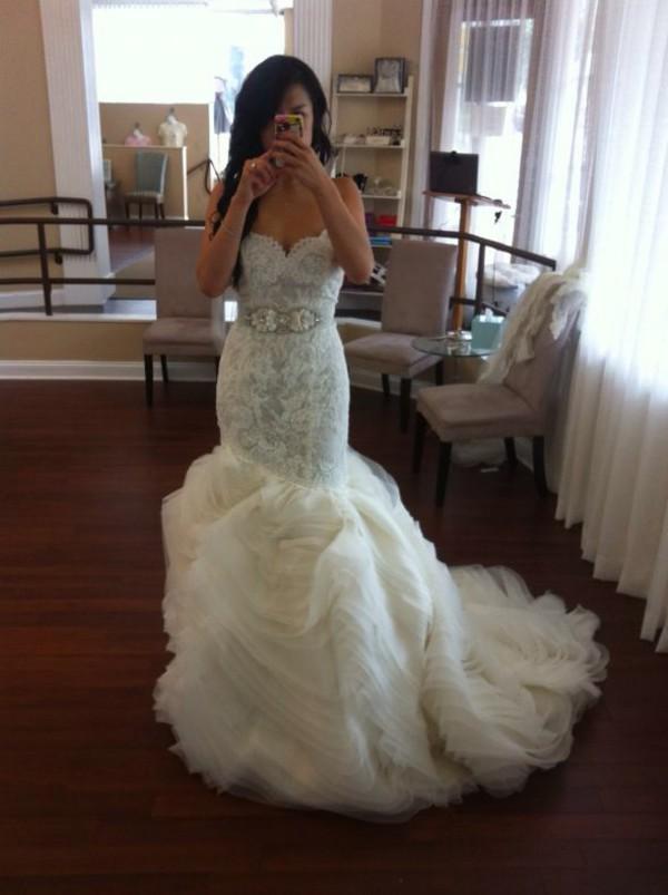 Bridal gowns wedding dresses by lazaro style lz3201 for Lazaro lace wedding dress
