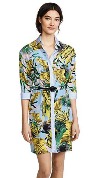 VERSACE shirtdress floral dress