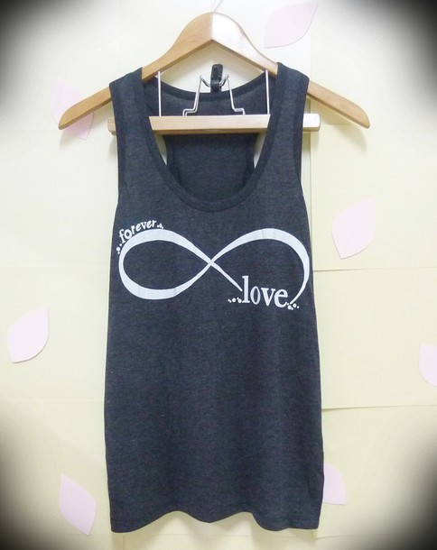 t-shirt infinity shirts forever shirt forever youny love shirt tank top grey love forever tank top