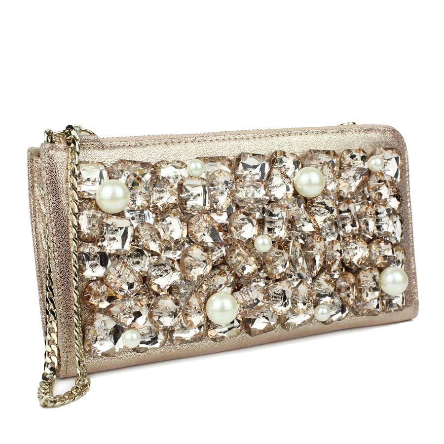 SALE Swarovski genuine leather ice rhinestone pearl diamond day clutch evening bag banquet bag wallet clutch women's handbag-inWallets from Luggage & Bags on Aliexpress.com | Alibaba Group