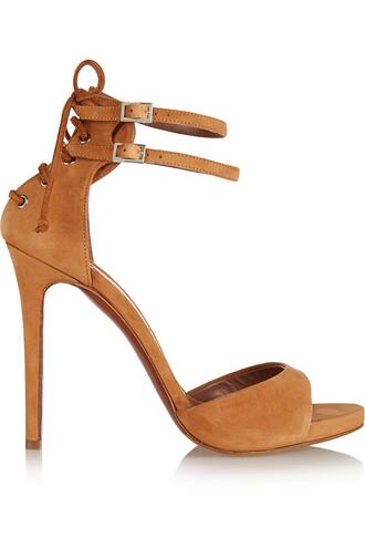 sandals suede camel shoes