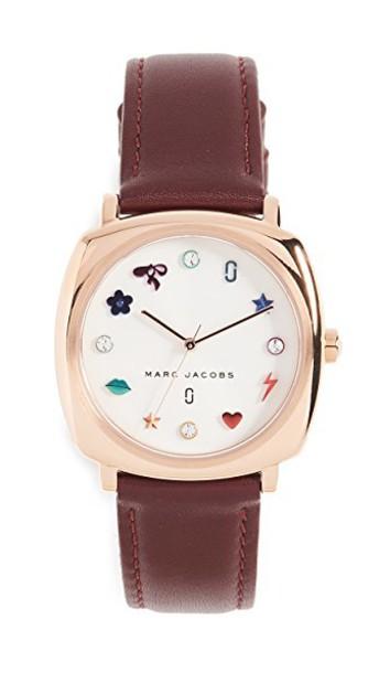 Marc Jacobs watch burgundy jewels