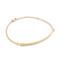 Jennifer zeuner jewelry horizontal bar bracelet with diamond - yellow gold