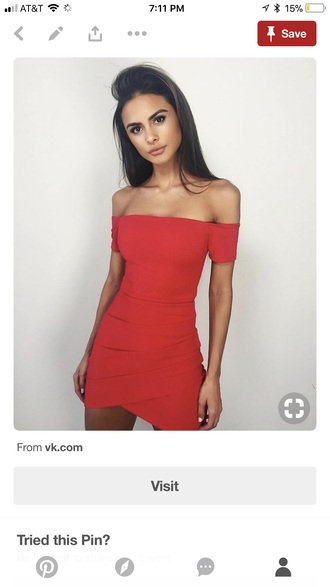 dress red dress red off the shoulder prom dress dance fashion cute dress