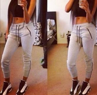 sportswear sports pants sporty fashion fashion toast swag girly