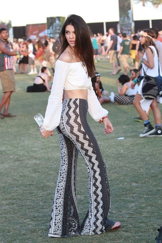 jeans kendall jenner coachella hippie indie