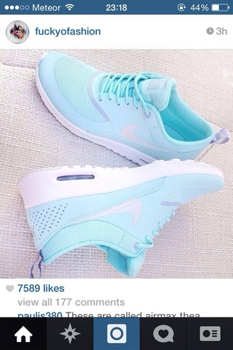 shoes nike nike roshe run aqua blue aqua
