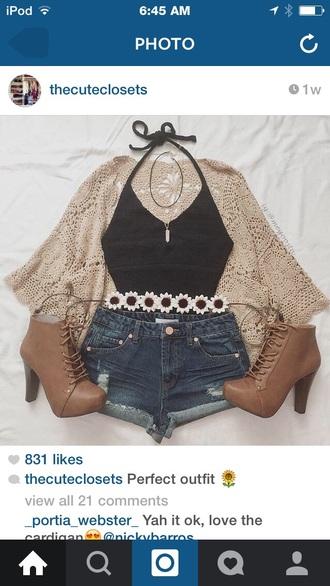 belt shirt shorts hat shoes jeans sweater