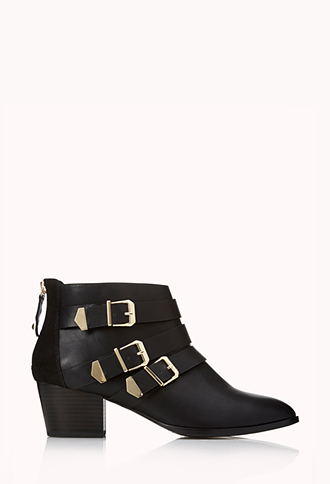 Must-Have Buckled Booties | FOREVER21 - 2000072140