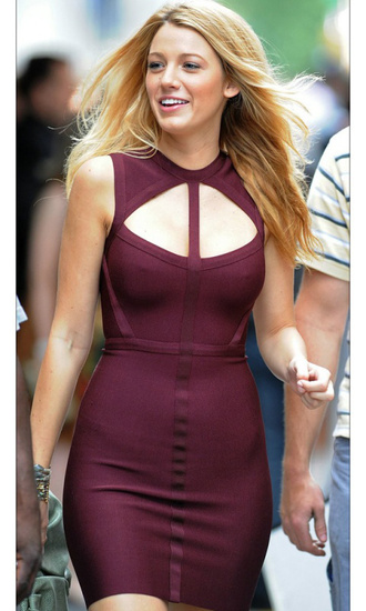 dress serena gossip girl wine red cut-out dress hot party blake lively gorgeous burgundy dress