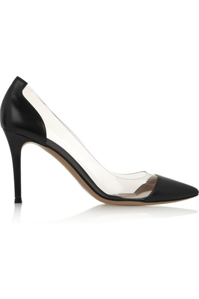 Gianvito Rossi Leather and PVC Pumps in black