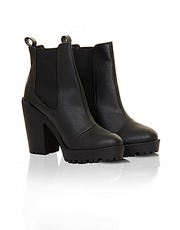 ASOS Fashion Finder | Black cleated sole Chelsea boots