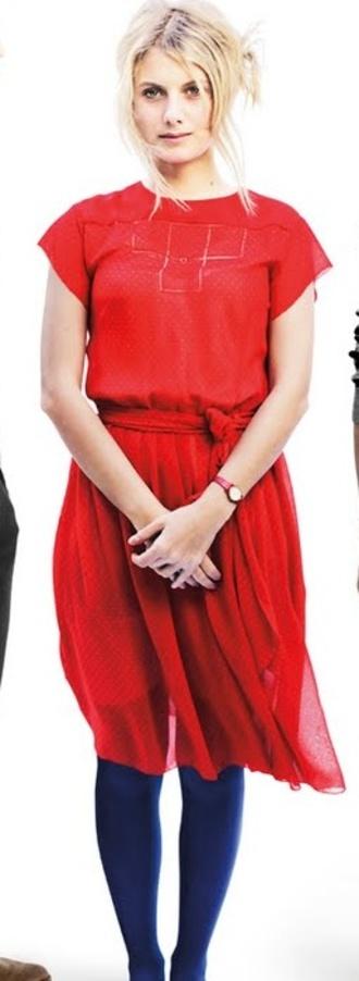 mélanie laurent red dress dress