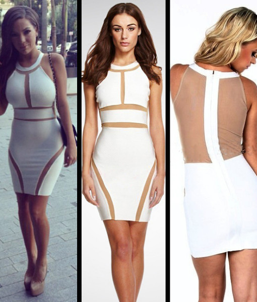 2014 New Fashion Sexy Lady White and Mesh Patchwork Bodycon Dress Sleeveless High Street Causal Dress Mini Summer Dress4225 | Amazing Shoes UK