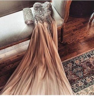 dress prom dress strapless glamour
