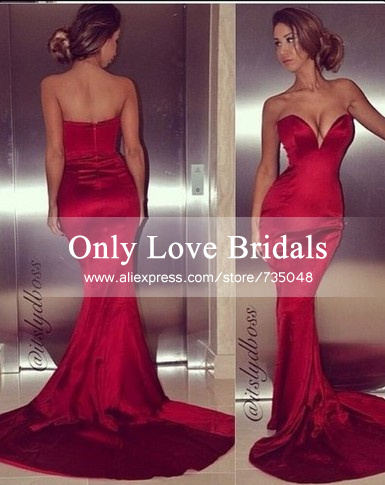 Aliexpress.com : buy 2015 new design red sweetheart off shoulder sleeveless floor length backless mermaid long prom/evening dresses vestido de noite from reliable dresses flapper suppliers on only love bridals