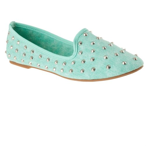 Riverberry Womens Kiwi Studded Canvas Shoes, Mint, Size 6 - Rakuten.com Shopping