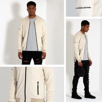 jacket maniere devoir maniere de voir suede beige bomber bomber jacket suede jacket