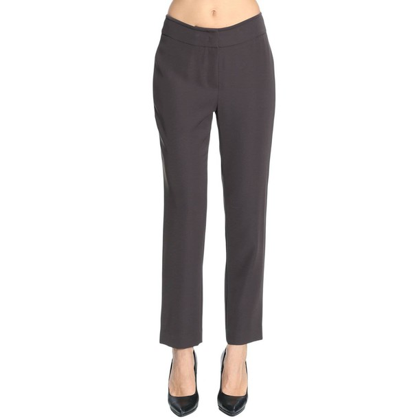 Armani Collezioni pants women brown