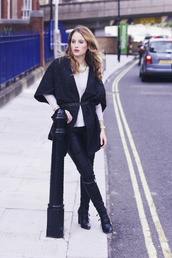 at fashion forte,blogger,belt,jewels,black boots,cardigan,fall outfits,leather pants