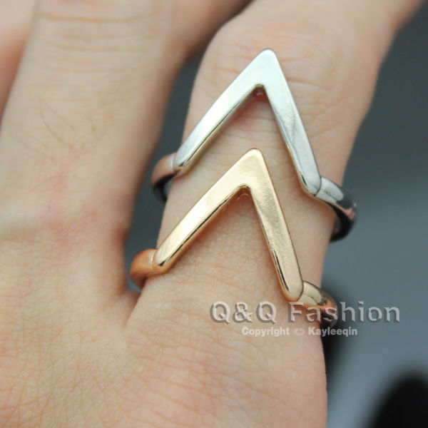 Chic Arrow Spike Chevron Luck Finger MIDI Ring Biker Rock Friendship Fancy Dress | eBay