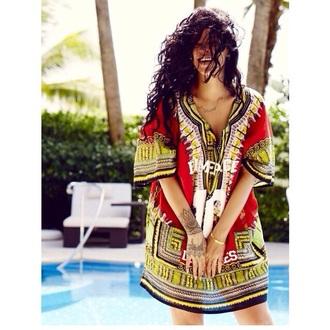 top shirt rihanna sexy henna aztec casual african print africa tattoo