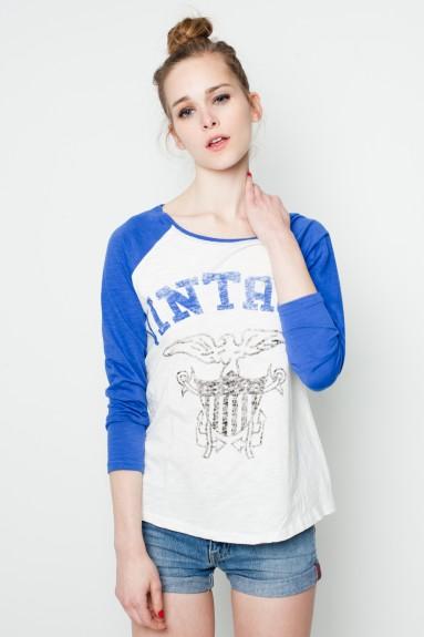 Camiseta azul t vintage