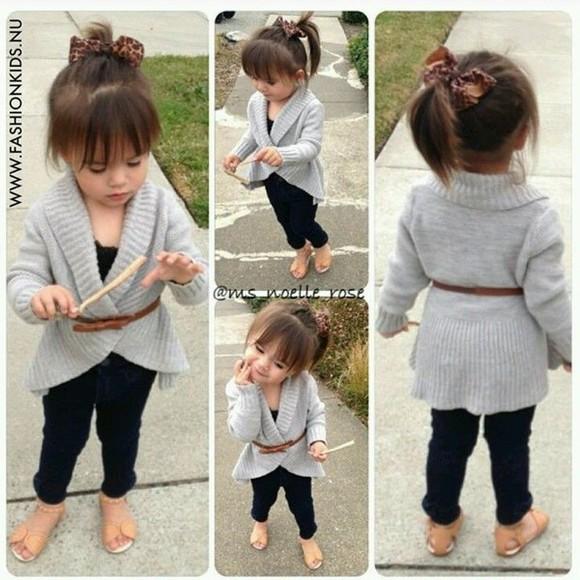 cardigan kids fashion grey