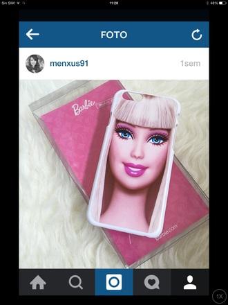 phone cover barbie iphone case iphone6 pink blonde hair cool cute