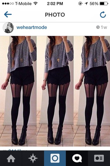 tights shorts high waisted black shorts classy fashion