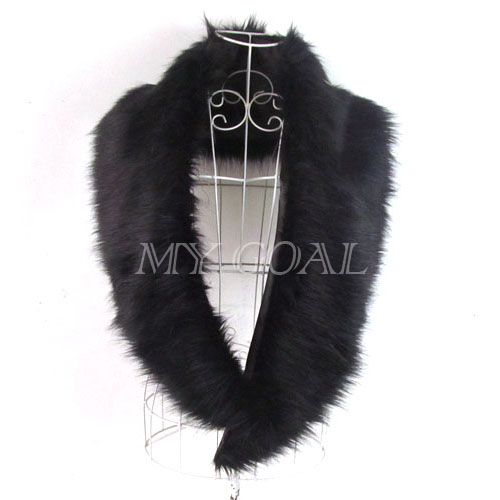 Long Shrug Winter Warm Faux Fur Neck Shawl Scarf Stole Collar Neck Wrap Warmer | eBay