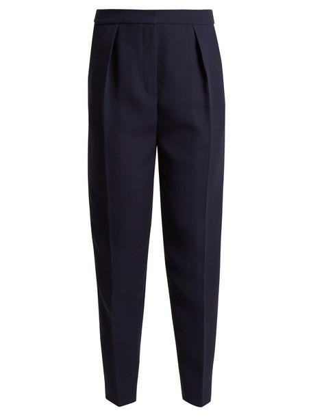 Roksanda high navy pants