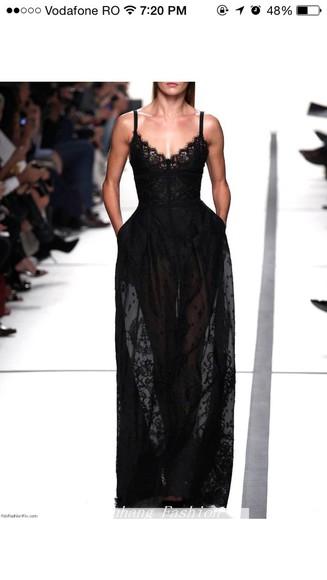 black amazing lace dress maxi dress sheer
