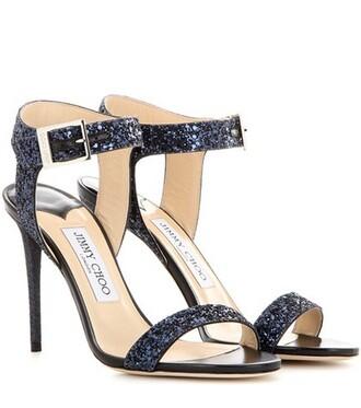 glitter 100 sandals blue shoes
