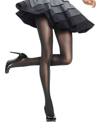 skirt pantyhose tights high heels fashion style